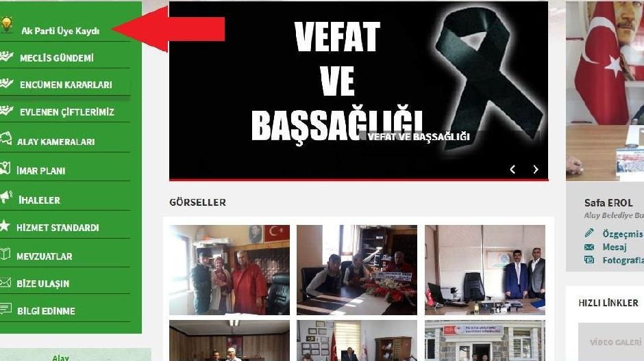 SÖZCÜ'nün haberi sonrası belediye AKP üyelik linkini kaldırdı