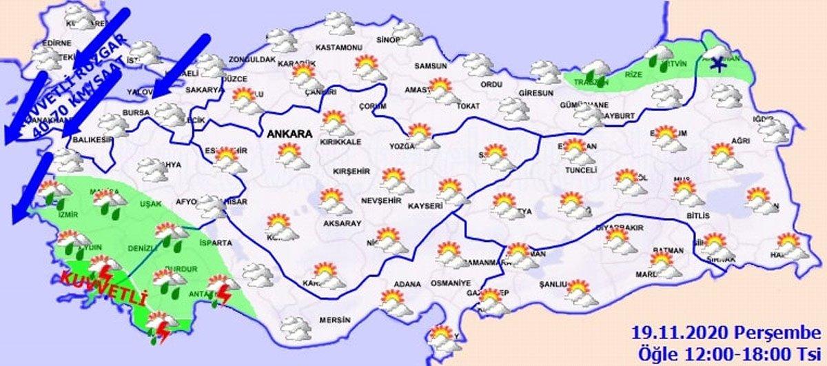 Meteoroloji ile AFAD'dan sel ve hortum ikazı! Bu gece başlıyor 14