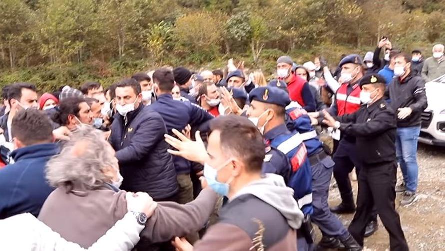 Balık çiftliğinin AKP'li sahibi keşifte köylülere saldırdı