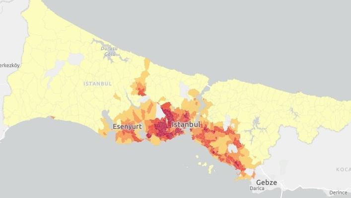 İstanbul'un corona kırılganlık haritası çıktı