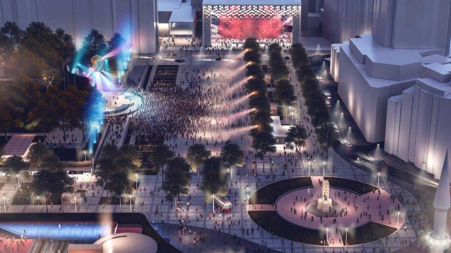 Taksim Meydanı ışıl ışıl olacak