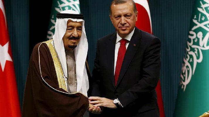 Cumhurbaşkanı Erdoğan, Kral Selman ile görüştü
