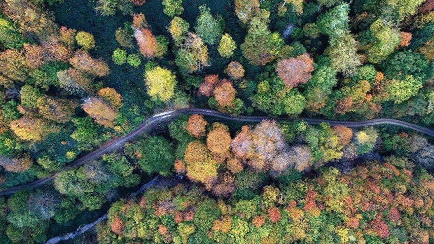 Binlerce yıllık tarihi su hattında sonbahar güzelliği