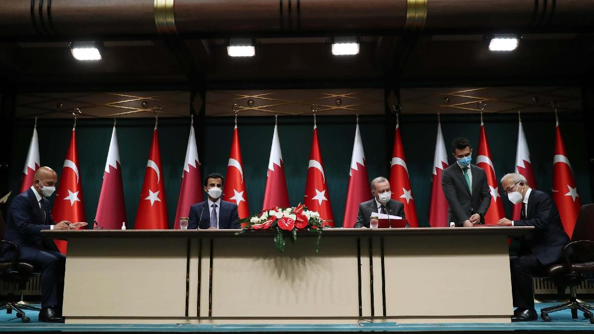 Türkiye ile Katar arasında 10 anlaşma