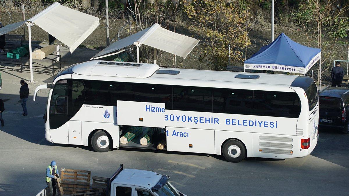 İstanbul'da korkutan görüntü! Cenazeler İBB otobüsüyle taşındı