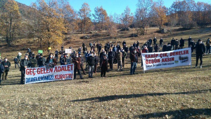 Artvin'de köylülerden HES protestosu