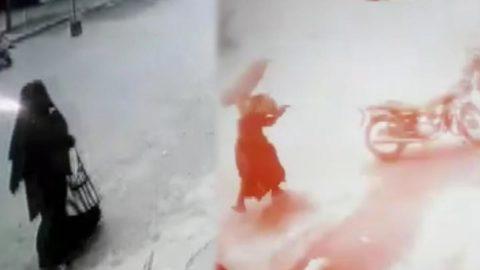 Bombalı saldırı anı kamerada