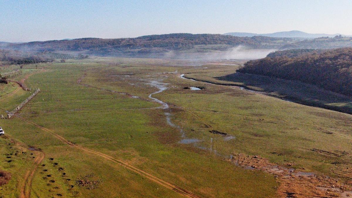 Ömerli Barajı'nda son 10 yılın en düşük su seviyesi