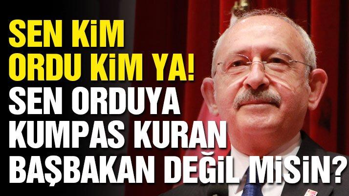 Son dakika… Kılıçdaroğlu: Sen orduya kumpas kuran başbakan değil misin?