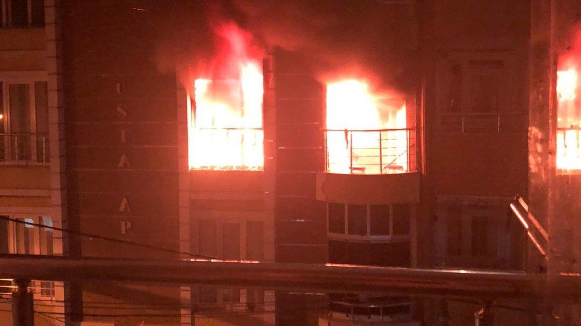 Önce yangın sonra patlama: Bir kişi ağır yaralı