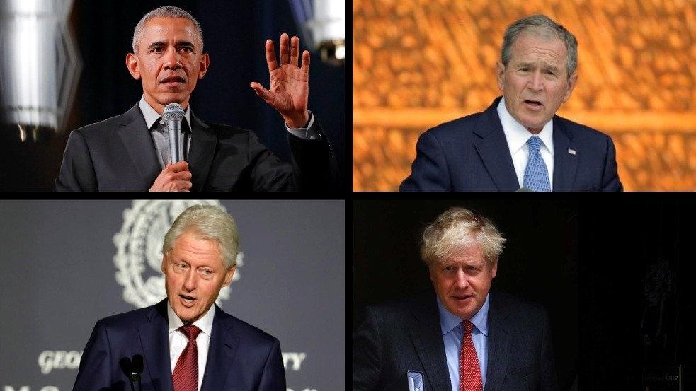 Canlı yayında aşı yarışı: Boris, Obama, Bush ve Clinton sıraya girdi