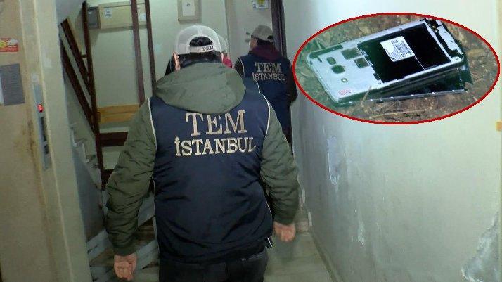 İstanbul'da FETÖ operasyonu: Cep telefonlarını fırlattı