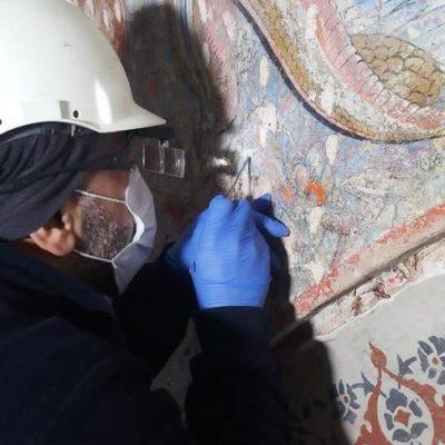 Topkapı Sarayı'nda sıvanın altından 500 yıllık süsleme çıktı - Kültür-Sanat haberleri