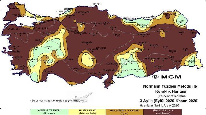 Meteorolojiden korkutan tablo: Harita giderek kararıyor