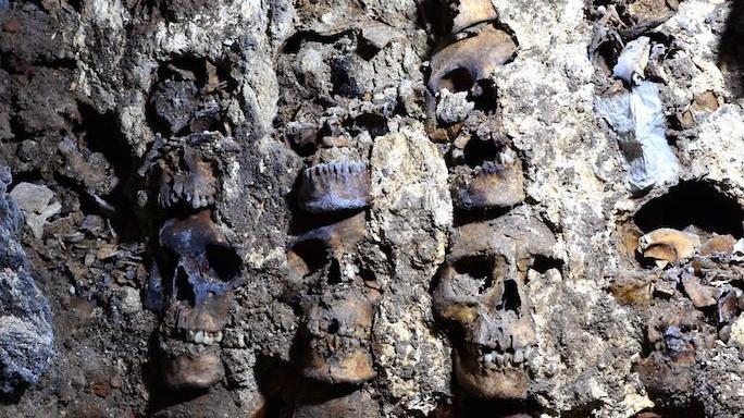 Meksika'da heyecan yaratan keşif... Kafatası kulesinin yeni bölümleri ortaya çıktı