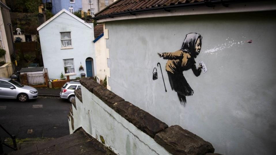 Banksy'nin son eserini çizdiği evin fiyatı uçtu: 50 milyon TL değer biçiliyor