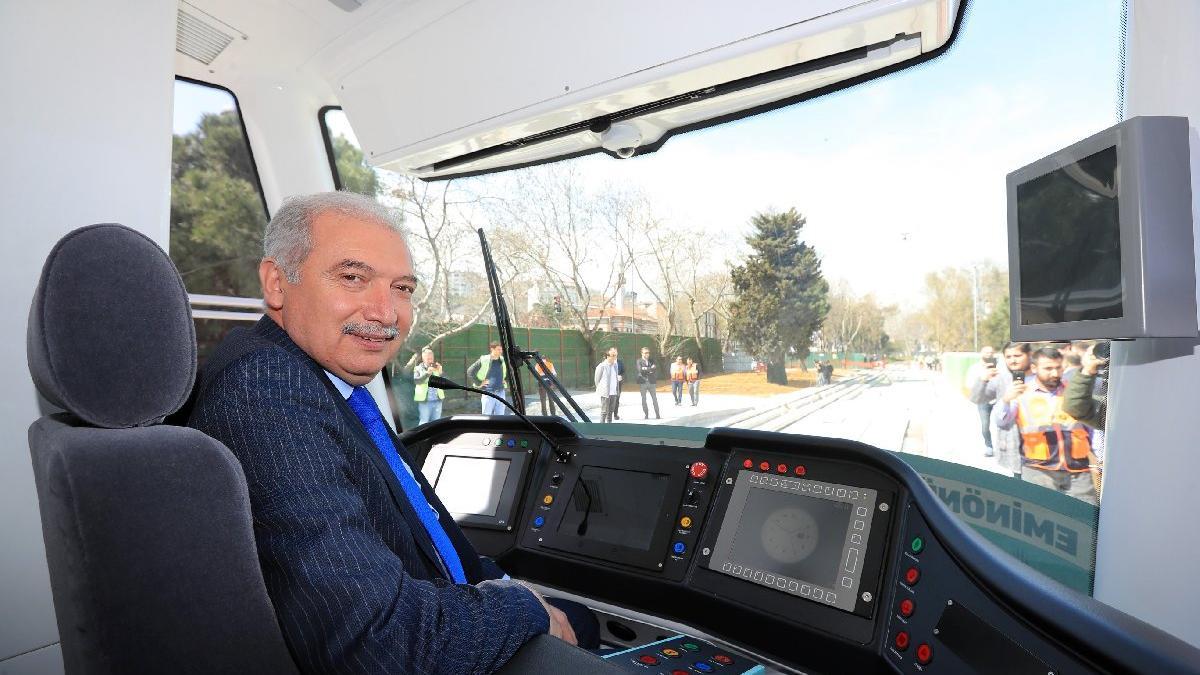 Tramvayın test sürüşü AKP'nin seçim propagandası çıktı
