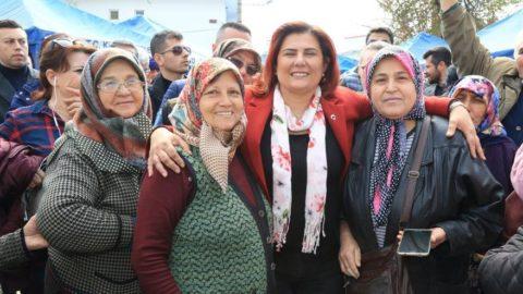 Aydın'da zorlukları kadınlarımızla omuz omuza verip aşıyoruz