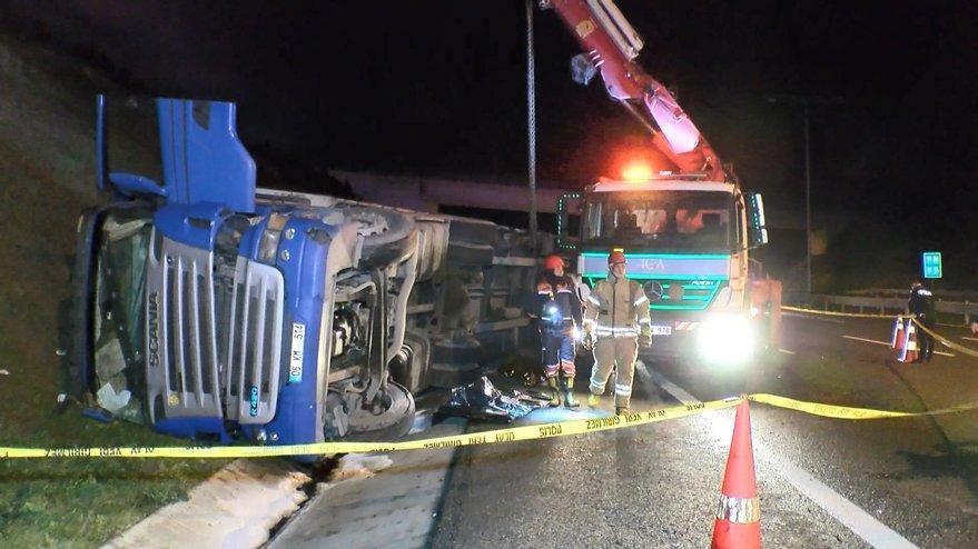 Kuzey Marmara Otoyolu'nda feci kaza: Bir ölü