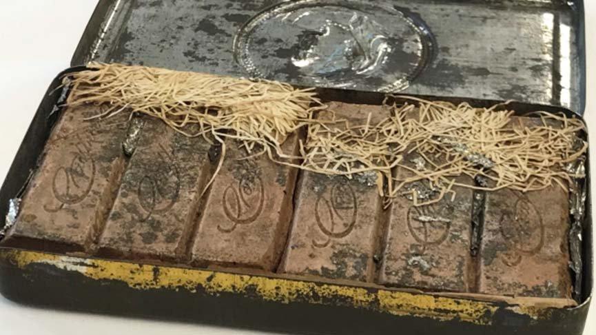 120 yıllık çikolata bulundu