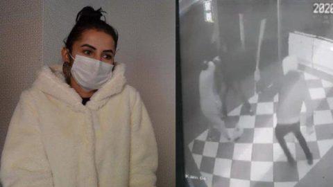 Kafe işletmecisi kadına işyerinde sopalı ve yumruklu saldırı
