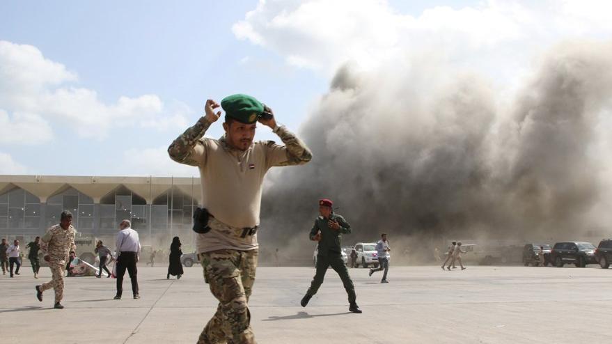 Yemen'de havalimanında patlama