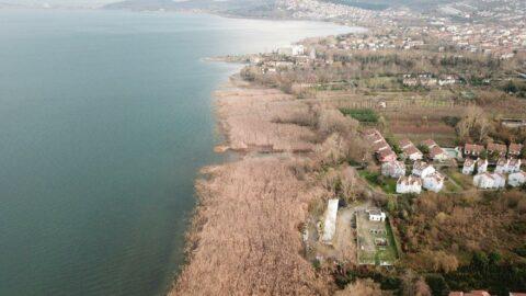 Sapanca Gölü'nde su seviyesi düştü