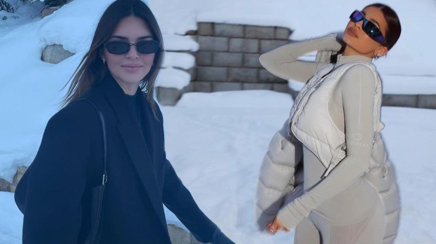 Jenner Ailesi'nin kayak tatili