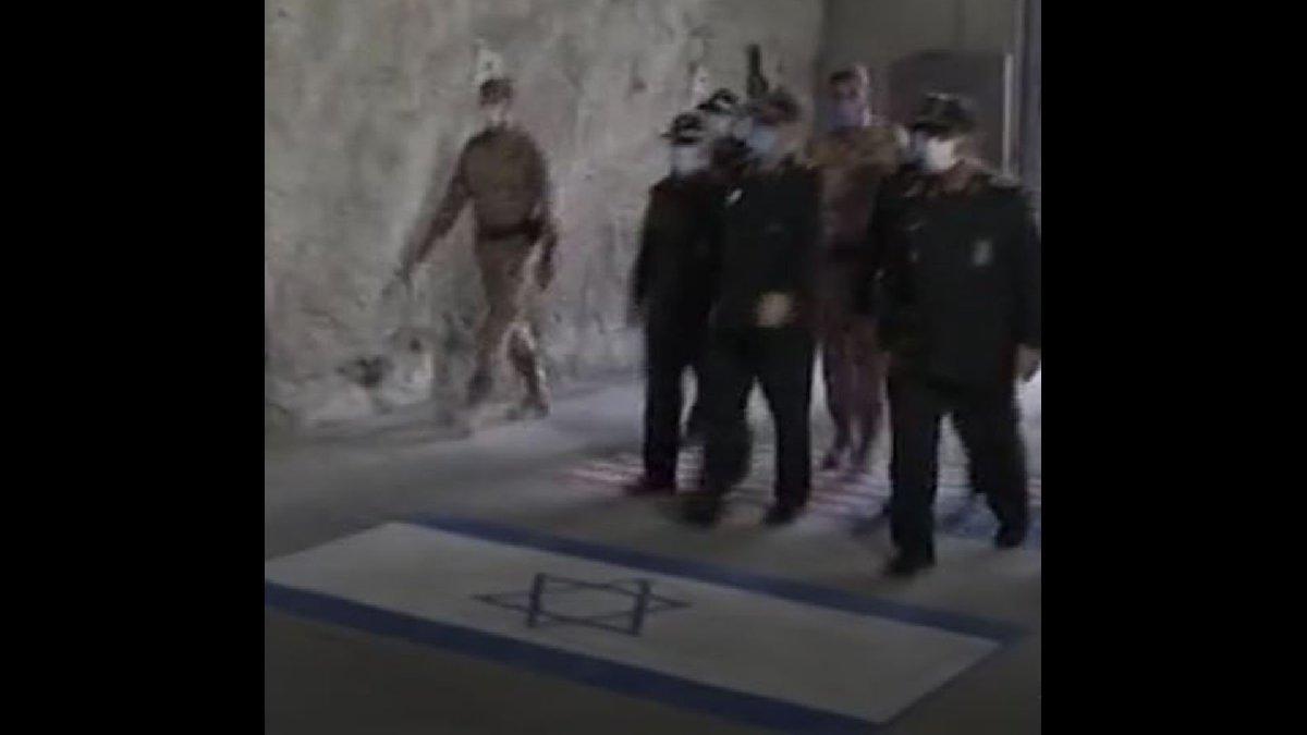 İran'dan yeraltında füze gözdağı... ABD ve İsrail bayraklarını çiğnediler