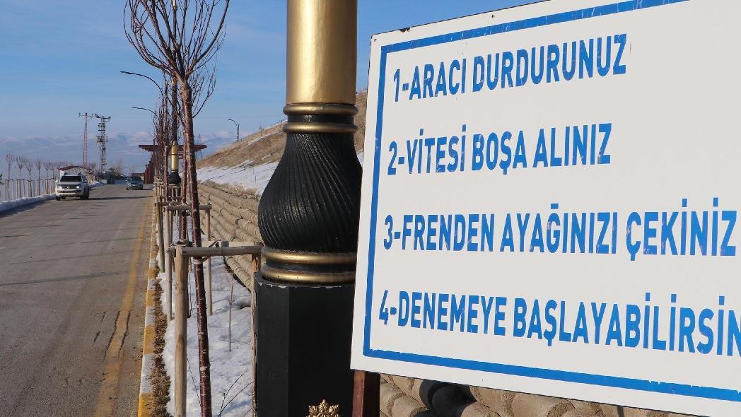 Erzurum'da yer çekiminin olmadığı iddia edilen 'gizemli yol'