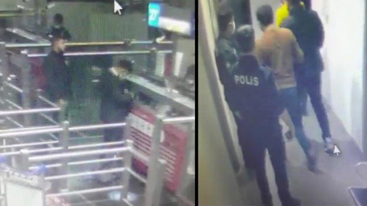 Cinayet zanlısı eski polis havalimanında yakalandı