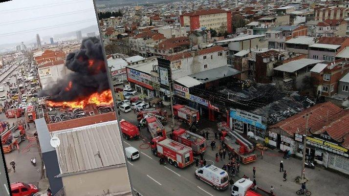 Bursa'da korkutan yangın: Dumanlar gökyüzünü kapladı