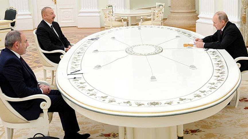 Aliyev, Paşinyan ve Putin'den ortak Dağlık Karabağ bildirisi