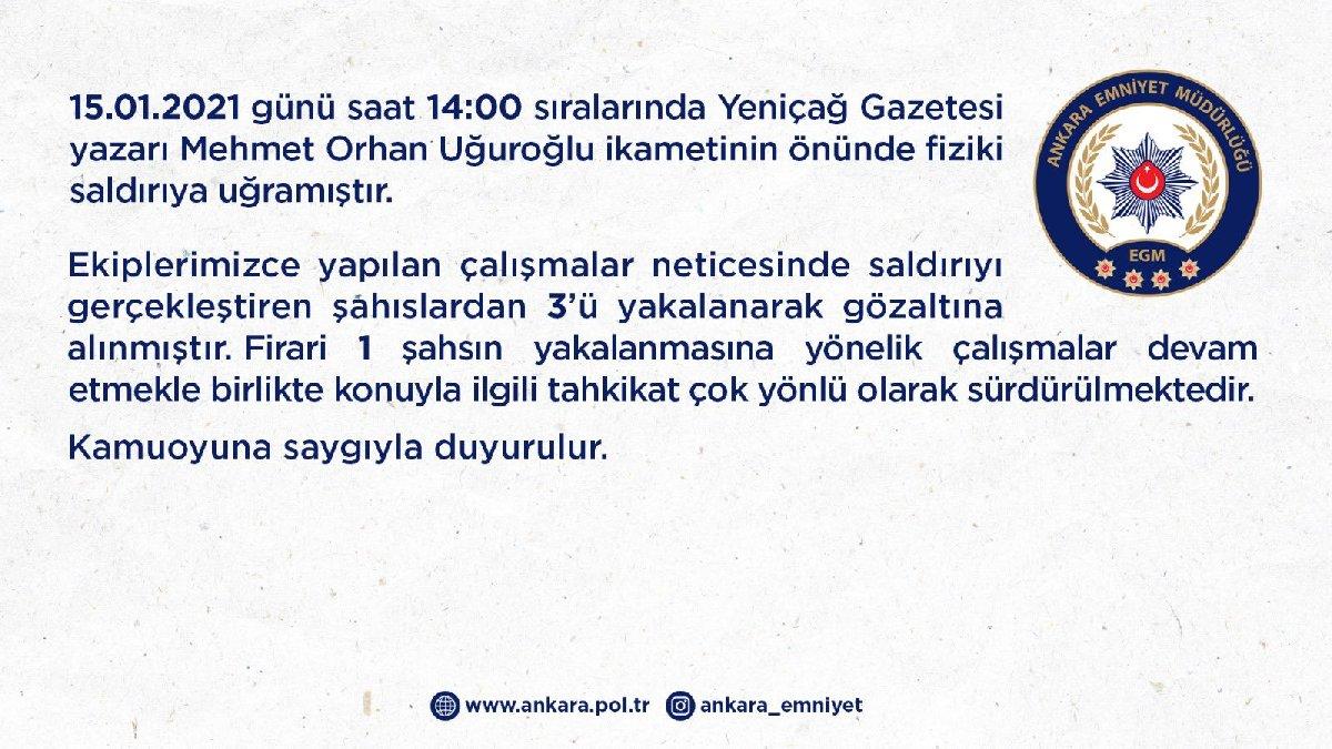 Son dakika… Ankara'da bir saldırı daha! Önce siyasetçi sonra da gazeteci dövüldü!