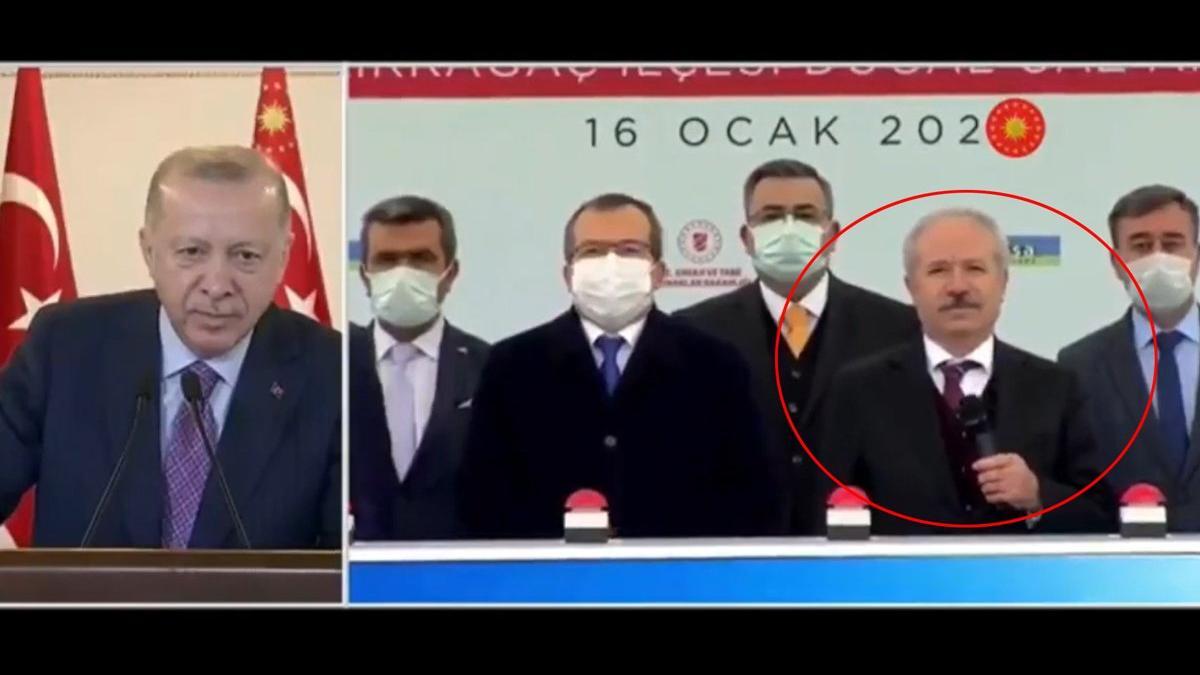 Erdoğan konuşmasına izin vermedi: Sen mikrofonu vekilimize ver