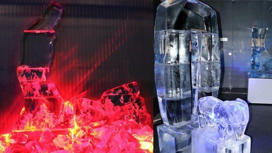 Erzurum'da 'buz heykel' sergisi