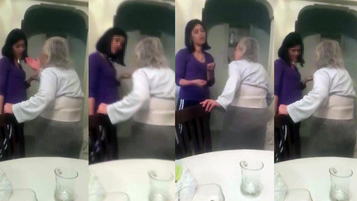 Yaşlı kadına bakıcı şiddeti