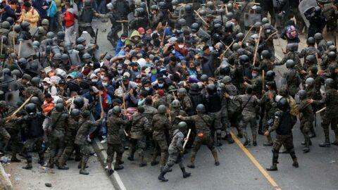 ABD yolundaki göçmenlere Guatemala'da sert müdahale