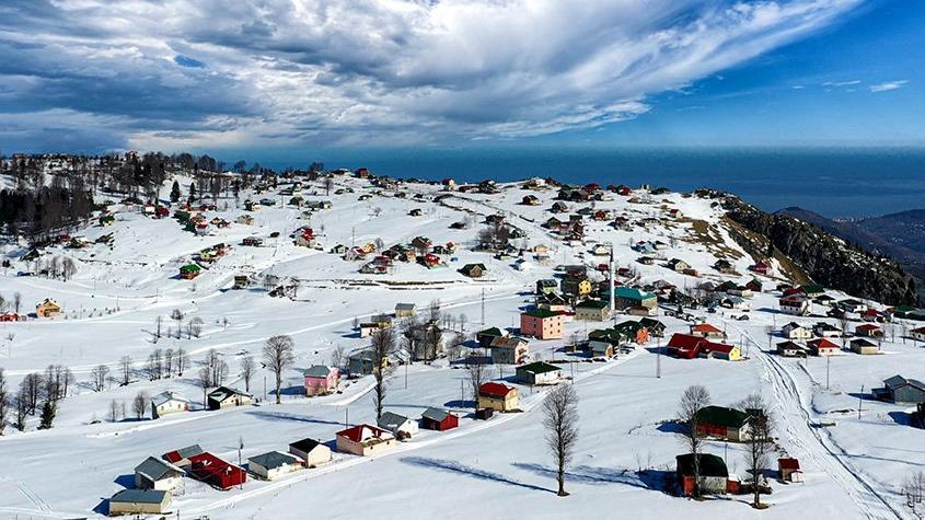Doğu Karadeniz'de kış güzelliği
