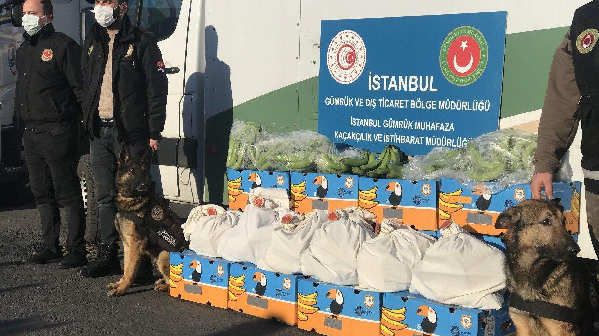 Muz yüklü gemide 88 kilogram kokain bulundu