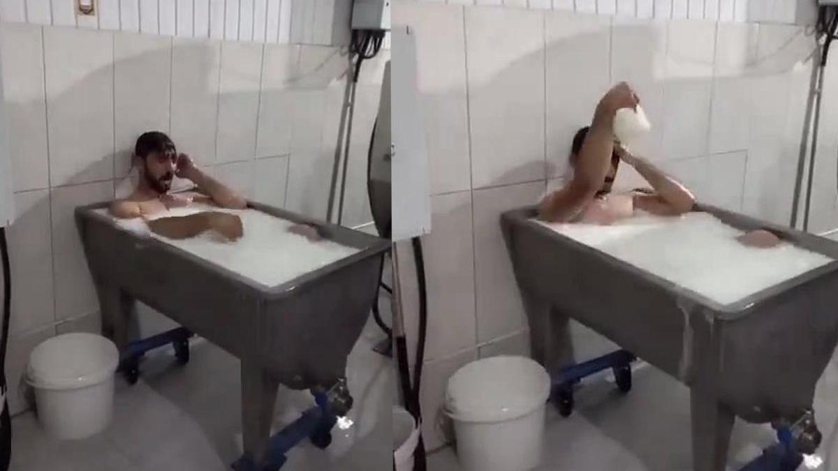 'Süt banyosu' ile gündeme geldi, şimdi lastikçide çalışıyor