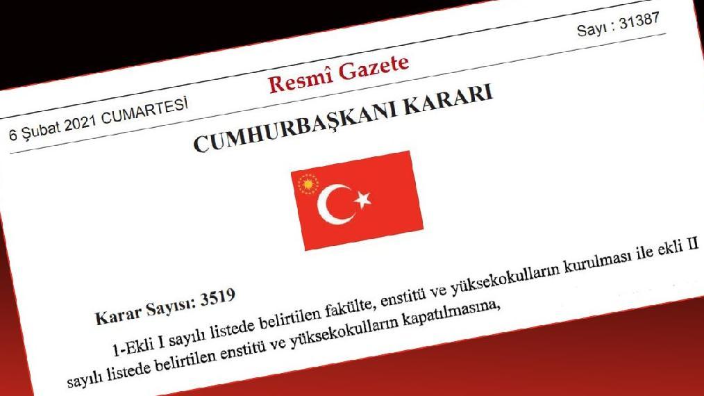 Cumhurbaşkanı kararıyla Boğaziçi Üniversitesi'ne Hukuk Fakültesi kuruldu