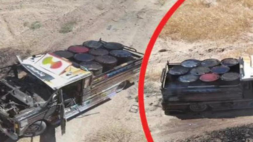 Tel Abyad'da içinde patlayıcı olan 2 kamyonet ele geçirildi