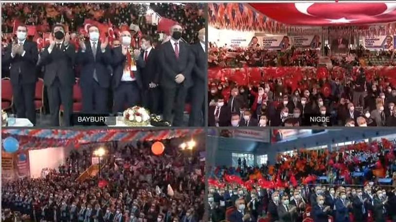 AKP kongreleri 'mesafe' tanımıyor