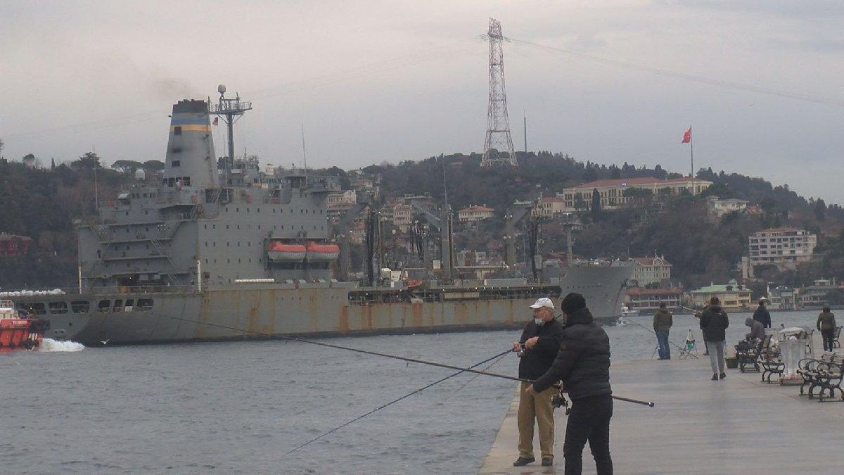 Amerikan savaş gemisi İstanbul Boğazı'ndan geçti