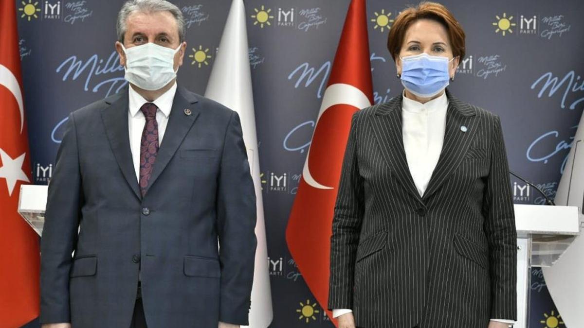 Destici'den Akşener'e 'yeni anayasa' ziyareti