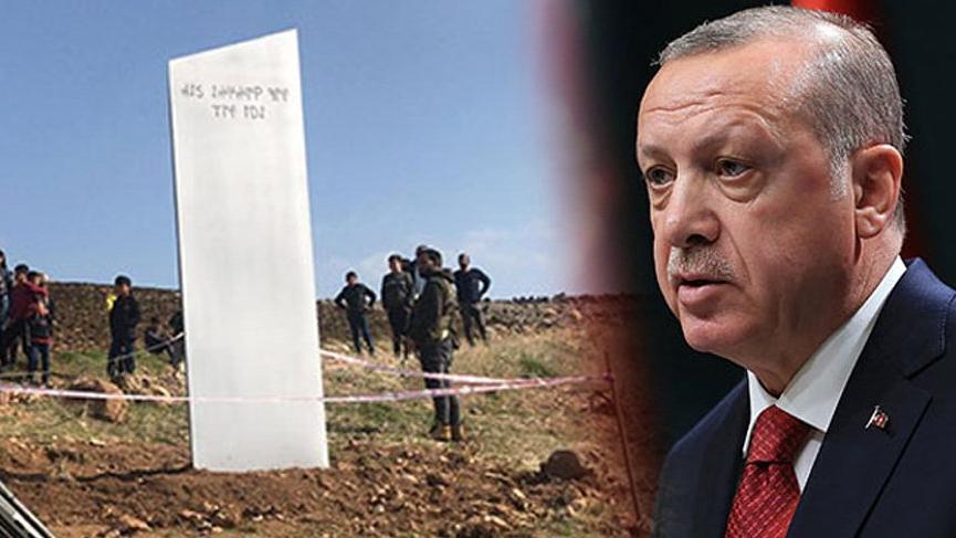Cumhurbaşkanı Erdoğan'dan monolitli mesaj