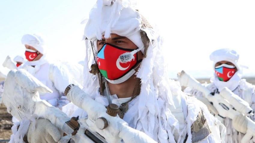 TSK ve Azerbaycan silahlı kuvvetlerinden kış tatbikatı