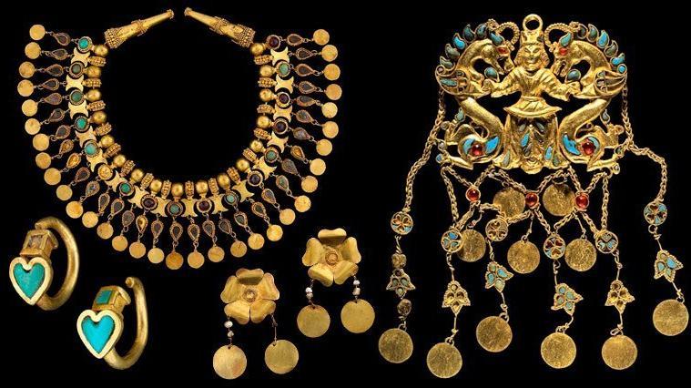 21 bin saf altınlı antik Baktriya hazinesi sarayda