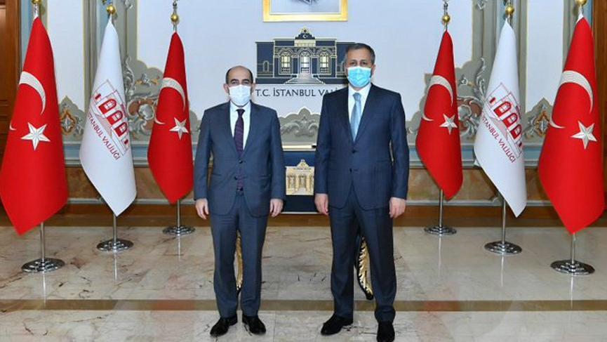 İstanbul Valisi Yerlikaya, Melih Bulu'yu kabul etti